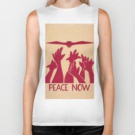 Peace Now Biker Tank