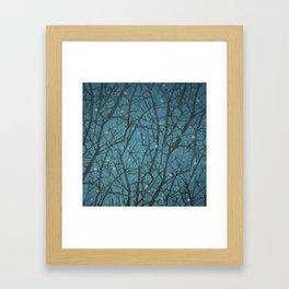 Long Winters Night Framed Art Print