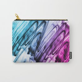 Cyan and Cerise Abstract Wavy Lines Carry-All Pouch