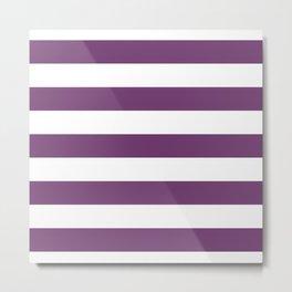 Eminence Big Horizontal Stripes   Interior Design Metal Print