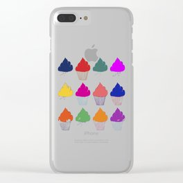 Cupcake Pattern Clear iPhone Case