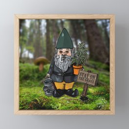 Gnome Grown Framed Mini Art Print