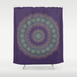 Lotus Mandala in Dark Purple Shower Curtain