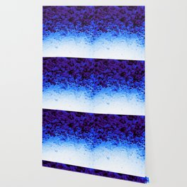 Indigo Blue Crystal Ombre Wallpaper
