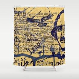 The  Raven Edgar Allen Poe Shower Curtain
