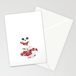 Halloween Trick or Treat Skeleton with Halloween Candy Stationery Cards