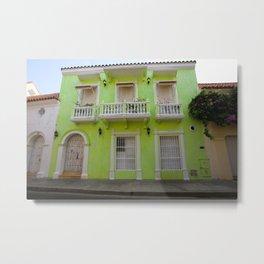 Cartegena Walled City Green Home Metal Print