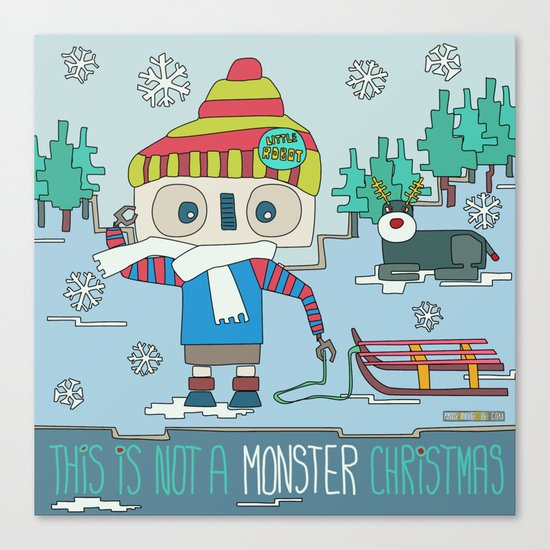 This is not a Monster Christmas Canvas Print