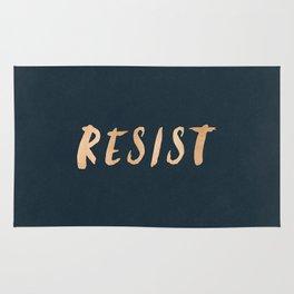 RESIST 7.0 - Rose Gold on Navy #resistance Rug