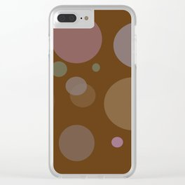 Chocolate Dots Clear iPhone Case
