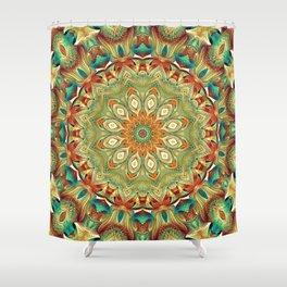 Flower Of Life Mandala (Turquoise Seas) Shower Curtain