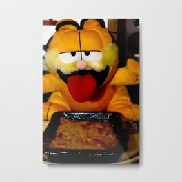 Garfield love lasagne Metal Print
