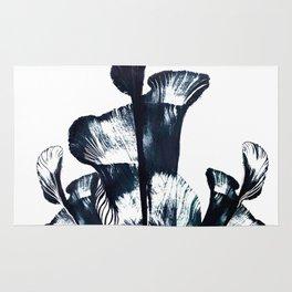 Black flower Rug