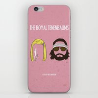 royal tenenbaums iPhone & iPod Skins featuring The Royal Tenenbaums by gokce inan