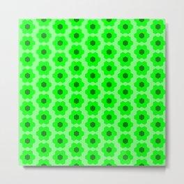 Floral No. 2 -- Lime Metal Print