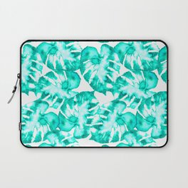 Monstera Watercolor Toss in Teal Laptop Sleeve