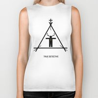 true detective Biker Tanks featuring True Detective by Deep Search