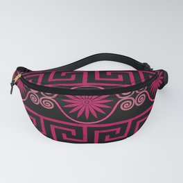 Ornate Greek Bands in Pink Fanny Pack