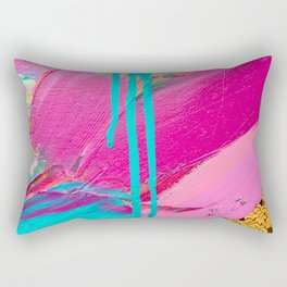 Abstract Acrylic brushstrokes and sequins Rectangular Pillow