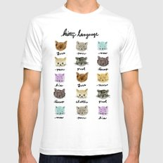 Kitty Language SMALL Mens Fitted Tee White