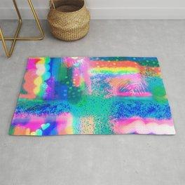 Rainbow Textures  Rug