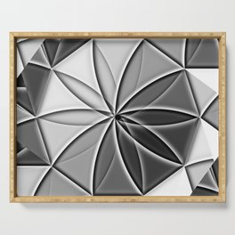 artistic kaleidoscope background Serving Tray