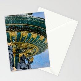 Fountain at Place de la Concorde Paris Stationery Cards