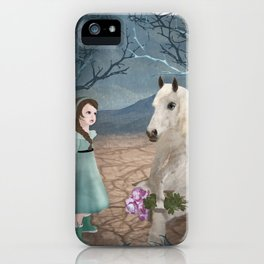 Talking with horseguy iPhone Case