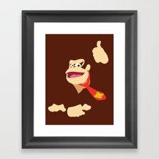 Donkey Kong - Minimalist - Nintendo Framed Art Print