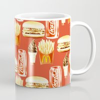 junk food Mugs featuring Junk Food by popsicledonut