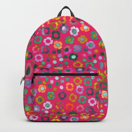 dp065-6 floral pattern Backpack