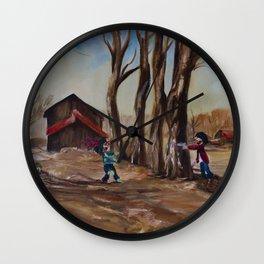 Zombie Farm Wall Clock