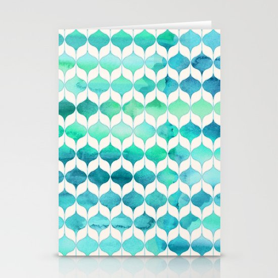 Ocean Rhythms and Mermaid's Tails Stationery Cards