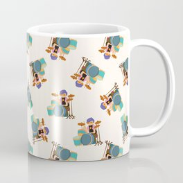 Drummer Pattern | Drums Musician Percussion Music Coffee Mug
