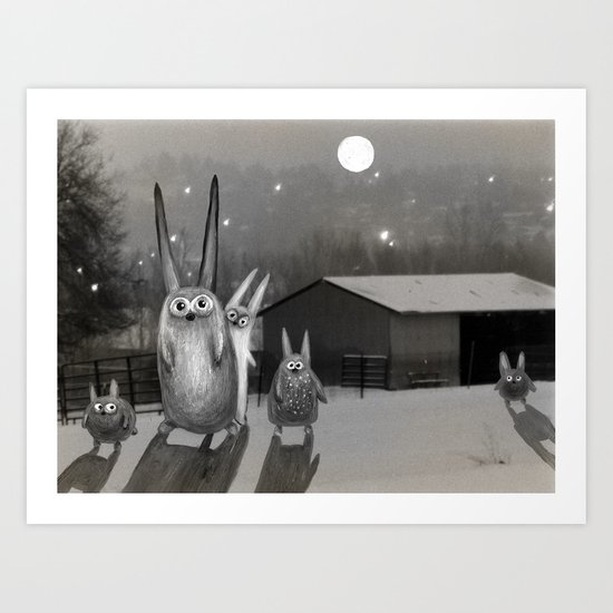 Night Scene Art Print
