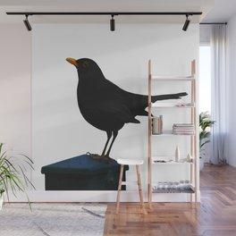 Blackbird Vector Wall Mural