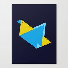 Triangle Bird Canvas Print