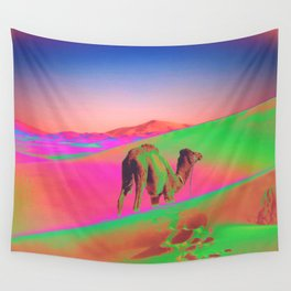 Psychedelic Sand Dunes 2 - Rainbow Wall Tapestry