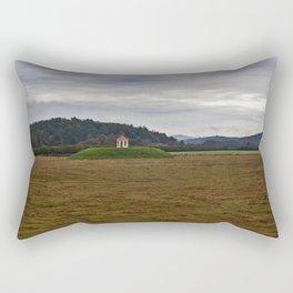 Nacoochee Indian Mound Near Helen Georgia Rectangular Pillow