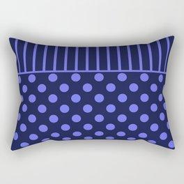 blue, combo pattern Rectangular Pillow