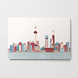 City Shanghai Metal Print