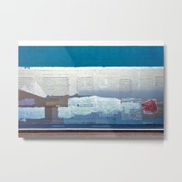 The Blue Alley Metal Print