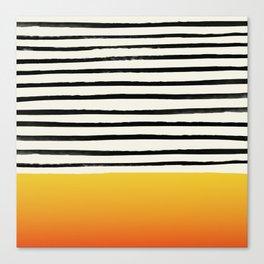 Sunset x Stripes Canvas Print