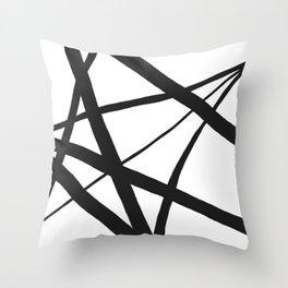 Broken Star Geometric Abstract Throw Pillow