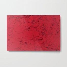 Red Marble Metal Print