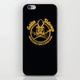 Golden Statesmen Drum and Bugle Corps on Black Background iPhone Skin