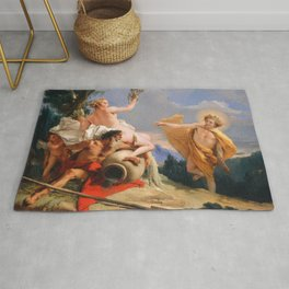 Oil Painting Apollo Pursuing Daphne by Giovanni Battista Tiepolo Rug