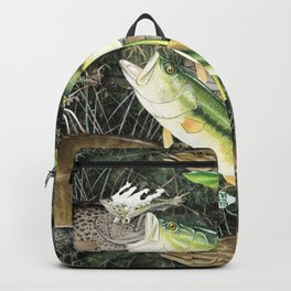 Live for the Catch- Bass Camo Backpack
