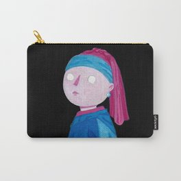The girl with the pearl earring Gouache Painting Carry-All Pouch