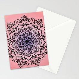 Baesic Sunset Traquil Mandala Stationery Cards